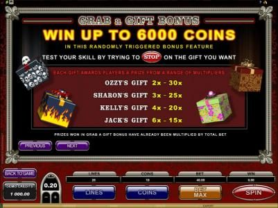 Spin Hill featuring the Video Slots The Osbournes with a maximum payout of $75,000