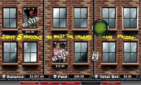 Play slots at Vegas Hero: Vegas Hero featuring the video-Slots The Punisher with a maximum payout of 5,000x