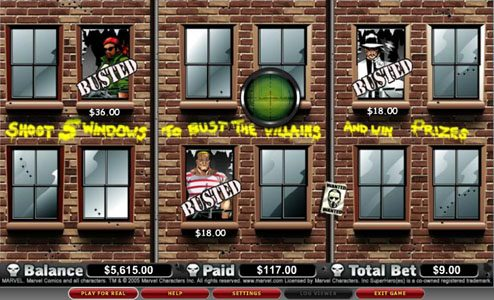 Casumo featuring the video-Slots The Punisher with a maximum payout of 5,000x