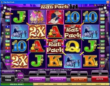 Winward featuring the Video Slots The Rat Pack with a maximum payout of $150,000