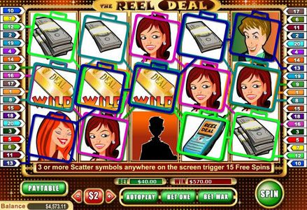 Lincoln featuring the Video Slots The Reel Deal with a maximum payout of $100,000