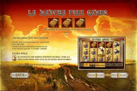 Slots Heaven featuring the Video Slots The Riches of Don Quixote with a maximum payout of $30,000