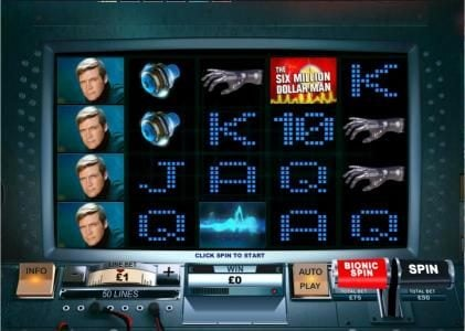Omni featuring the Video Slots The Six Million Dollar Man with a maximum payout of $200,000