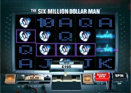 Chips Palace featuring the Video Slots The Six Million Dollar Man with a maximum payout of $200,000