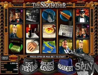 Play slots at Top Bet: Top Bet featuring the Video Slots The Slotfather with a maximum payout of $5,000