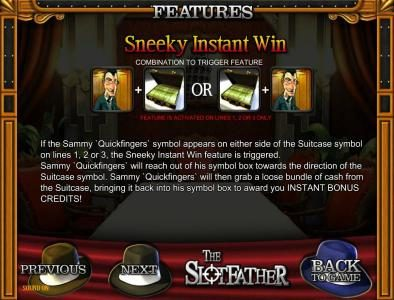 The Slotfather :: sneeky instant win rules