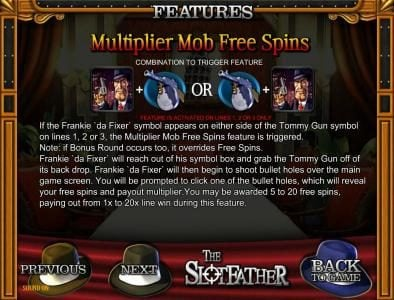 Africa Casino featuring the Video Slots The Slotfather with a maximum payout of $5,000