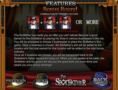 Norskespill featuring the Video Slots The Slotfather with a maximum payout of $5,000
