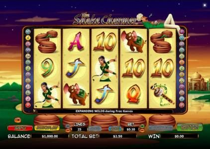 Play slots at Ocean Bets: Ocean Bets featuring the Video Slots The Snake Charmer with a maximum payout of $10,000