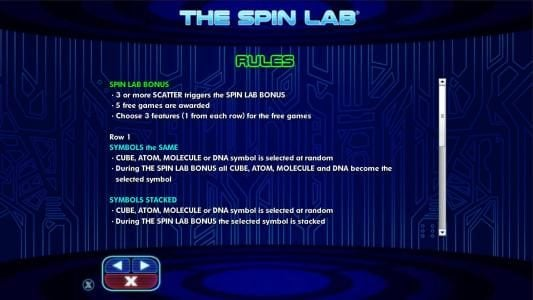 Winzino featuring the Video Slots The Spin Lab with a maximum payout of $2,000