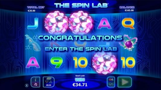 BGO Vegas featuring the Video Slots The Spin Lab with a maximum payout of $2,000