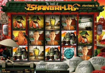 Play slots at Solara: Solara featuring the Video Slots The Temple of Shangri-La with a maximum payout of $7,000