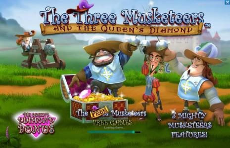 AC Casino featuring the Video Slots The Three Muskateers with a maximum payout of $25,000