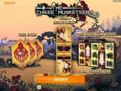 Play slots at Malina: Malina featuring the Video Slots The Three Musketeers with a maximum payout of $15,000