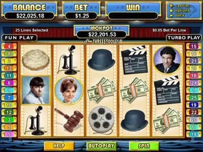 Play slots at Saturn: Saturn featuring the Video Slots The Three Stooges with a maximum payout of $250,000