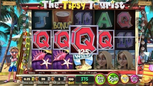 Supreme Play featuring the Video Slots The Tipsy Tourist with a maximum payout of $8,750
