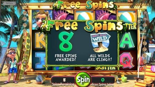 The Tipsy Tourist :: 8 Free Spins awarded with sticky wilds!