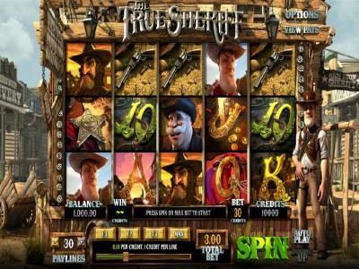 Laromere featuring the Video Slots The True Sheriff with a maximum payout of $7,500
