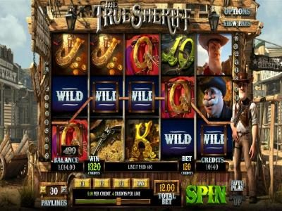 wild guns feature triggers a 1320 coin big win