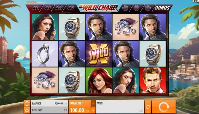 Play slots at Casino Room: Casino Room featuring the Video Slots The Wild Chase with a maximum payout of $1,000