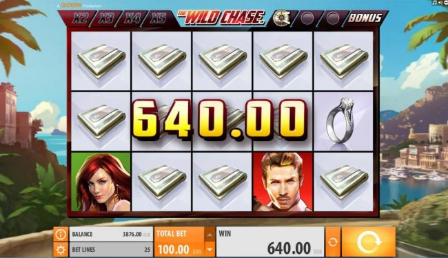 Club Vulkan featuring the Video Slots The Wild Chase with a maximum payout of $1,000