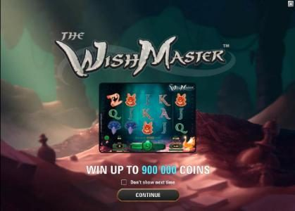 Wild Jackpots featuring the Video Slots The Wish Master with a maximum payout of $3,750