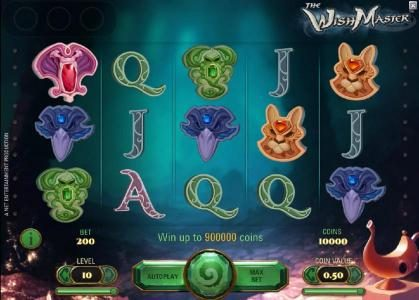 Neder featuring the Video Slots The Wish Master with a maximum payout of $3,750