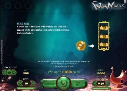 7Bit featuring the Video Slots The Wish Master with a maximum payout of $3,750
