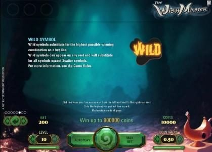 Wintingo featuring the Video Slots The Wish Master with a maximum payout of $3,750