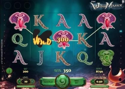 Energy featuring the Video Slots The Wish Master with a maximum payout of $3,750