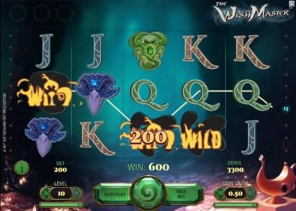 Vegas Winner featuring the Video Slots The Wish Master with a maximum payout of $3,750