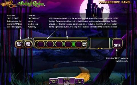 The Wizard of OZ Wicked Riches :: progressive panel