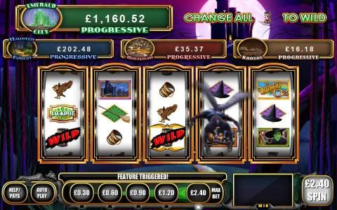 NetBet featuring the Video Slots The Wizard of OZ Wicked Riches with a maximum payout of Jackpot