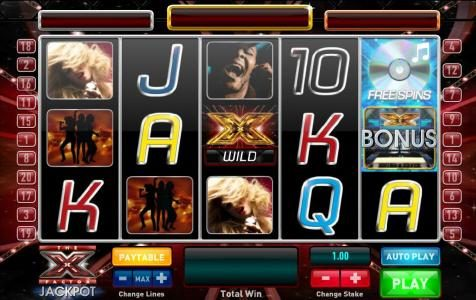 Slots Heaven featuring the Video Slots The X Factor Jackpot with a maximum payout of Jackpot