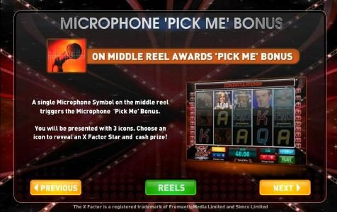 microphone pick me bonus rules