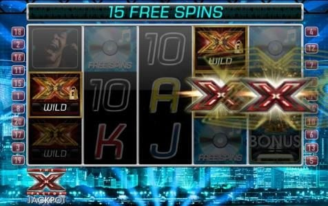 slot symbols are randomly selected and changed into locked wilds for the duration of the free spins feature.