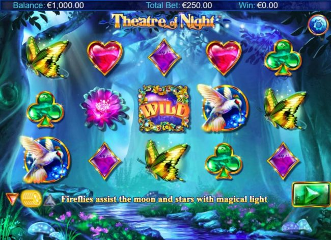 Mr Green featuring the Video Slots Theatre of Night with a maximum payout of $18.750