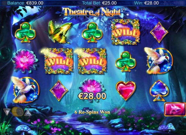 TS featuring the Video Slots Theatre of Night with a maximum payout of $18.750
