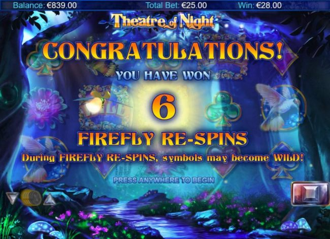 6 Firefly Re-Spins awarded