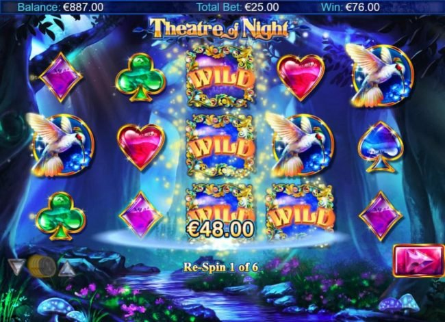 Aztec Ritces featuring the Video Slots Theatre of Night with a maximum payout of $18.750