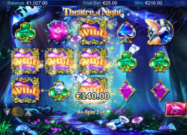 EU Casino featuring the Video Slots Theatre of Night with a maximum payout of $18.750