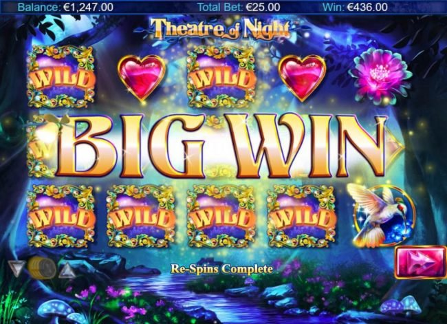 Instacasino featuring the Video Slots Theatre of Night with a maximum payout of $18.750
