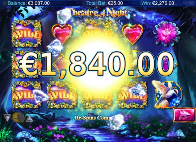 ZigZag777 featuring the Video Slots Theatre of Night with a maximum payout of $18.750