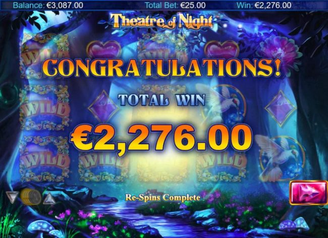 Jetbull featuring the Video Slots Theatre of Night with a maximum payout of $18.750