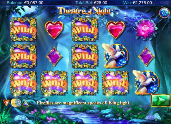 Zet Casino featuring the Video Slots Theatre of Night with a maximum payout of $18.750