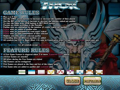 Fruity Vegas featuring the video-Slots Thor with a maximum payout of 4,000x