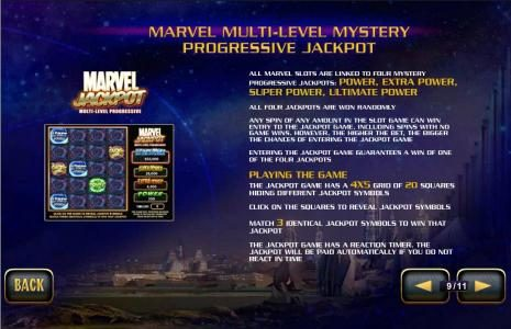 marvel multi-level mystery progressive jackpot