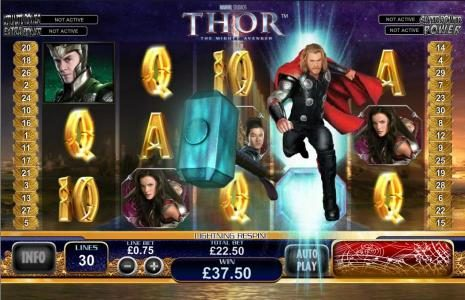 Noble featuring the Video Slots Thor the Mighty Avenger with a maximum payout of $100,000