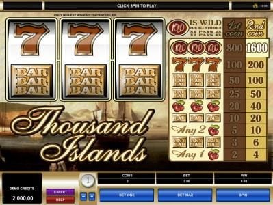 Play slots at Piggs: Piggs featuring the Video Slots Thousand Islands with a maximum payout of $16,000