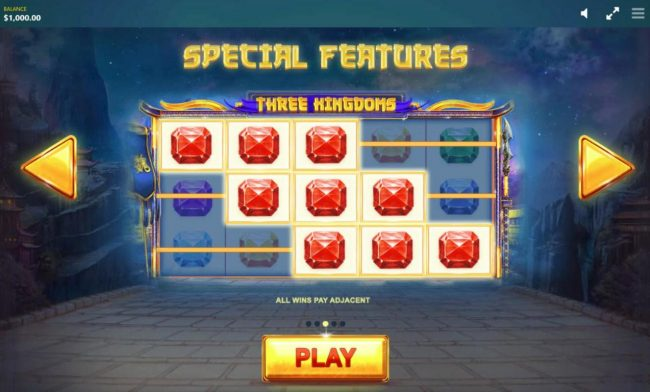 Play slots at Casino Cruise: Casino Cruise featuring the Video Slots Three Kingdoms with a maximum payout of $12,500
